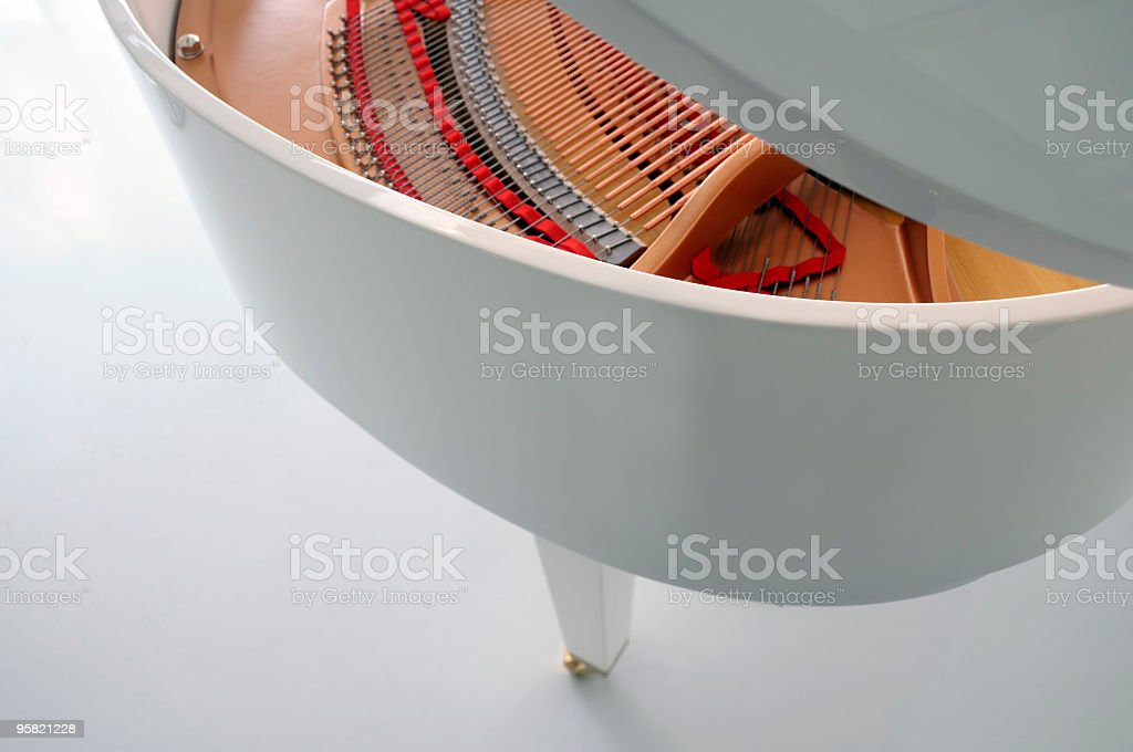 White Piano royalty-free stock photo