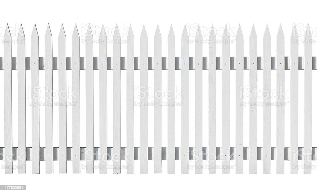 White picked fence isolated royalty-free stock photo