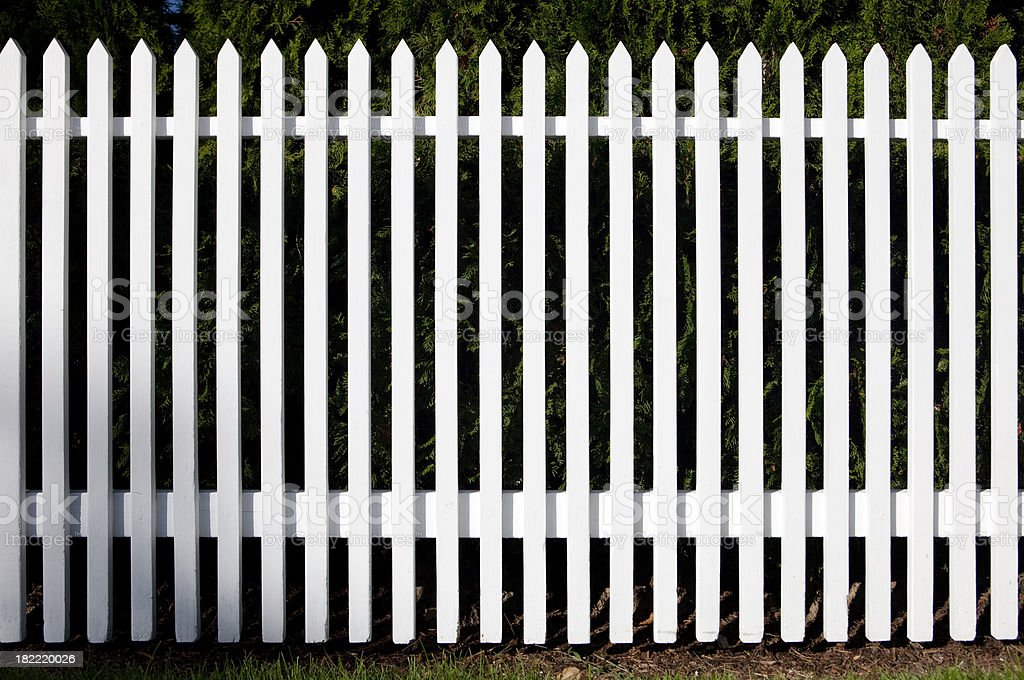 White picket fence royalty-free stock photo