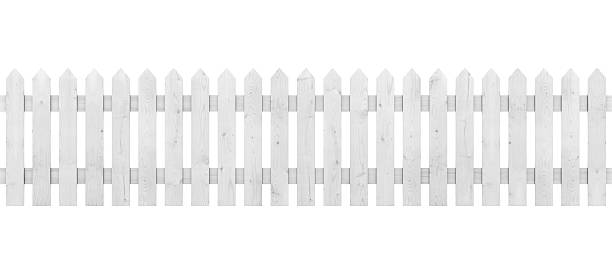white picket fence - fence stock photos and pictures