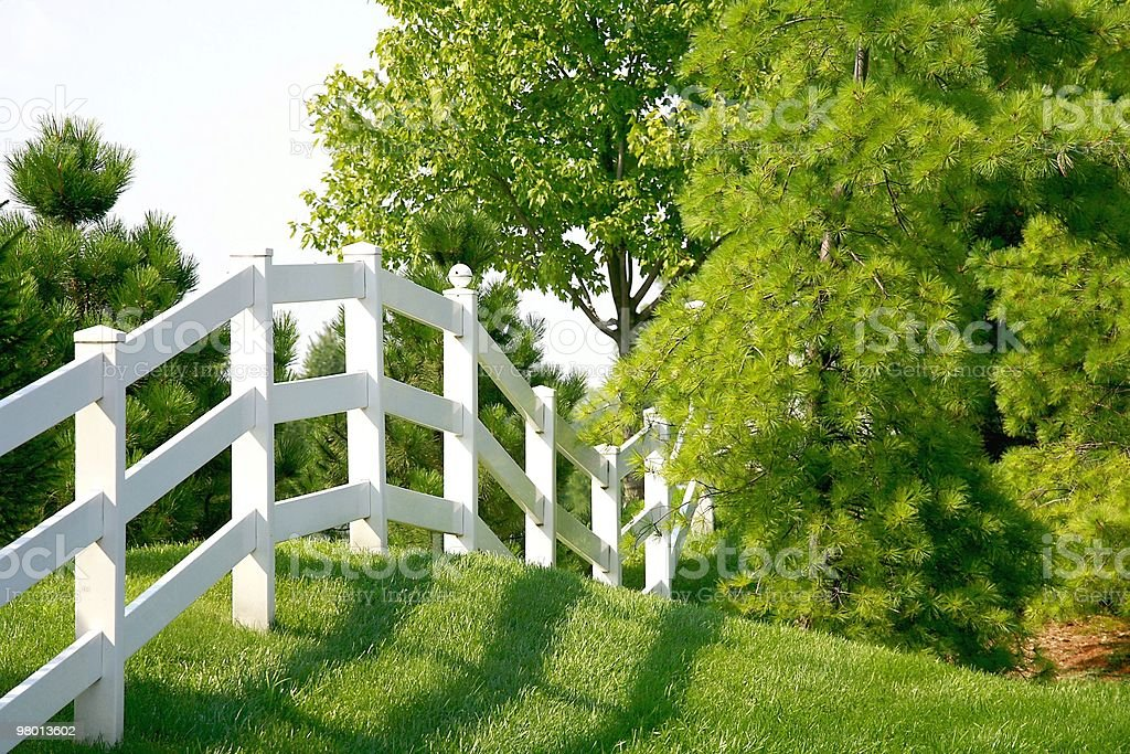 White Picket Fence royalty-free stock photo