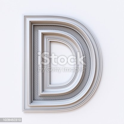 583978154 istock photo White picture frame font Letter D 3D 1028452310