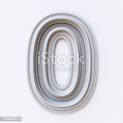 845307368 istock photo White picture frame font Number 0 ZERO 3D 1028450114