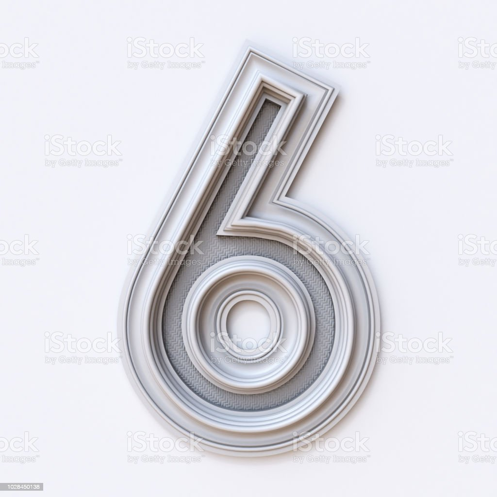 White Picture Frame Font Number 6 Six 3d Stock Photo & More Pictures ...