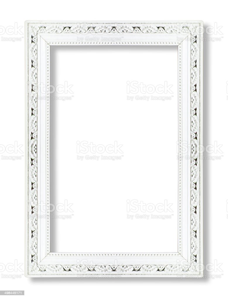 White picture frame  isolated on white background stock photo