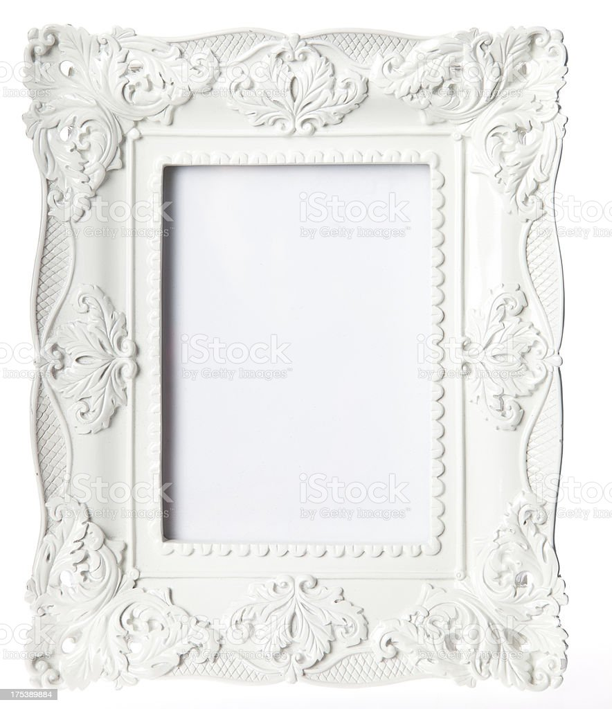 White Picture Frame stock photo