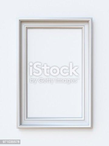 istock White picture frame rectangular 3D 971035578