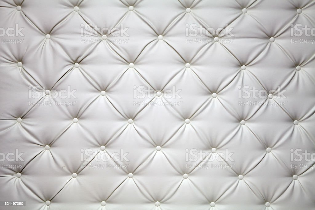 white picture of genuine leather upholstery stock photo