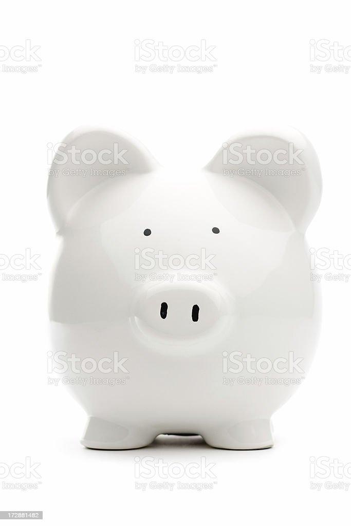 White piggy bank royalty-free stock photo