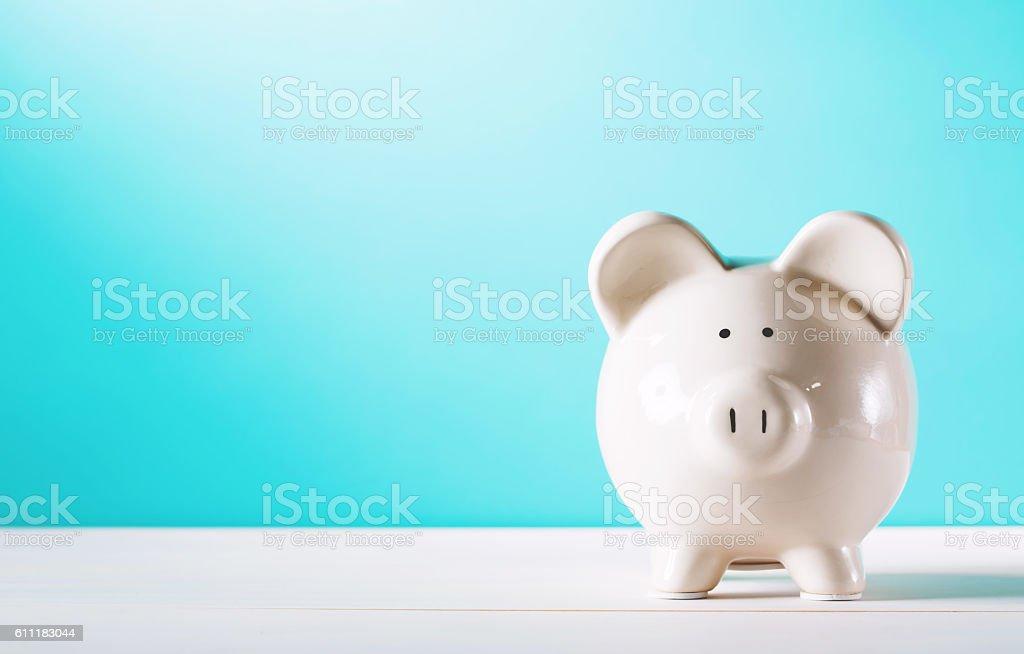 Weiße Sparschwein  – Foto