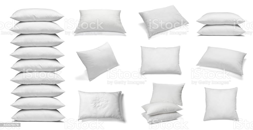 white pillow bedding sleep stock photo
