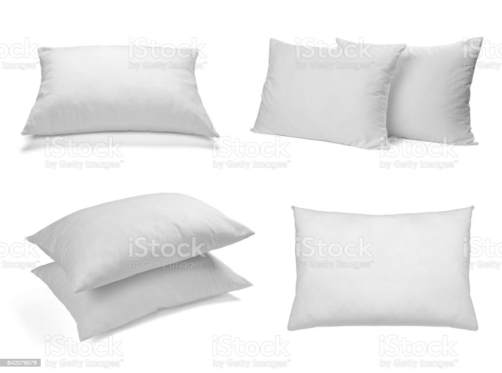 weiße Kissen Bettwäsche schlafen – Foto