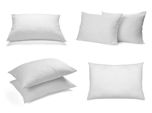 white pillow bedding sleep stock photo