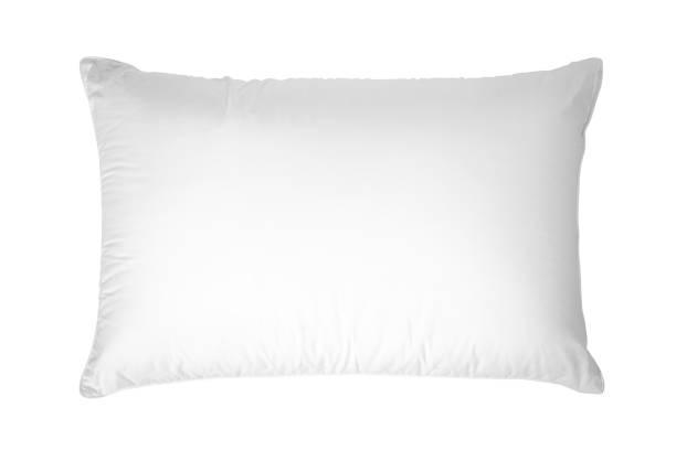 white pillow, isolated on white background. - подушка стоковые фото и изображения