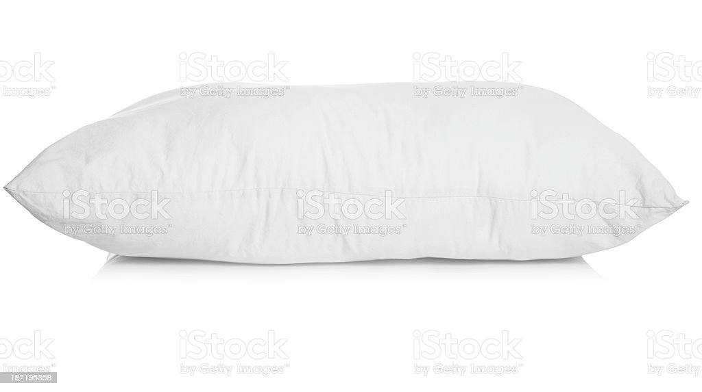White pillow royalty-free stock photo