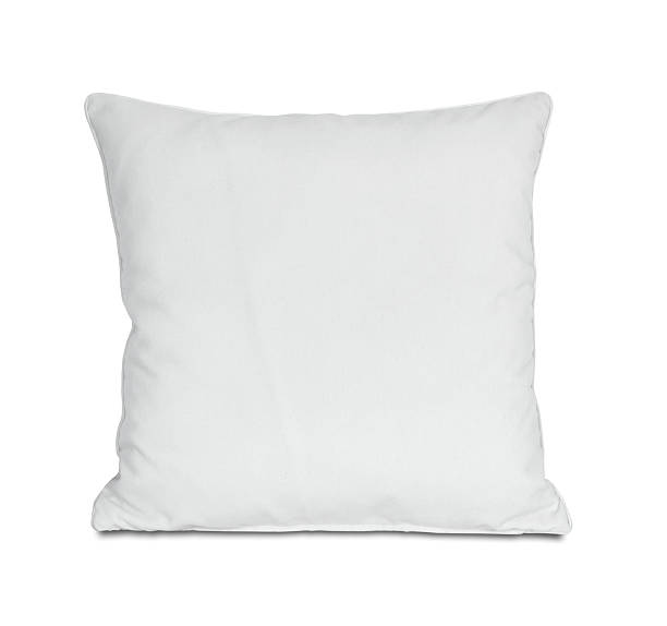 White Pillow (Clipping Path)  cushion stock pictures, royalty-free photos & images