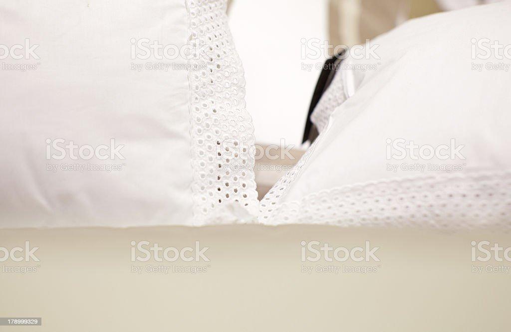 White pillows royalty-free stock photo
