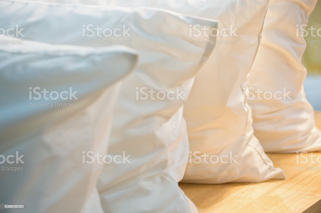 White pillows stock photo