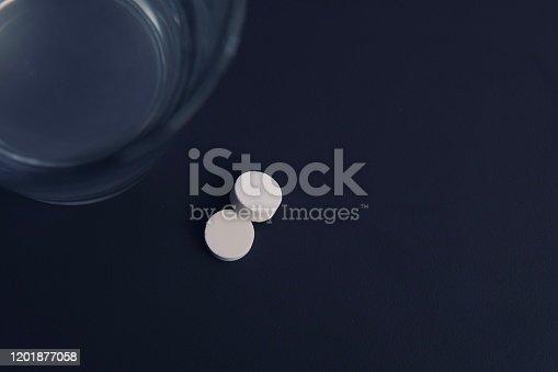 1092248526 istock photo White pills and water 1201877058