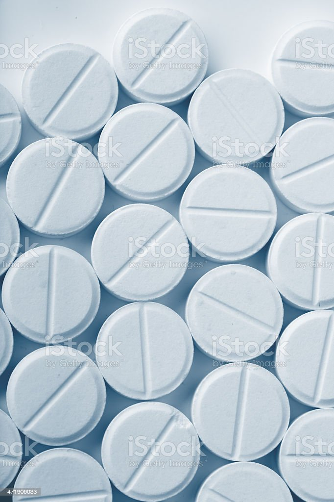 White pills royalty-free stock photo