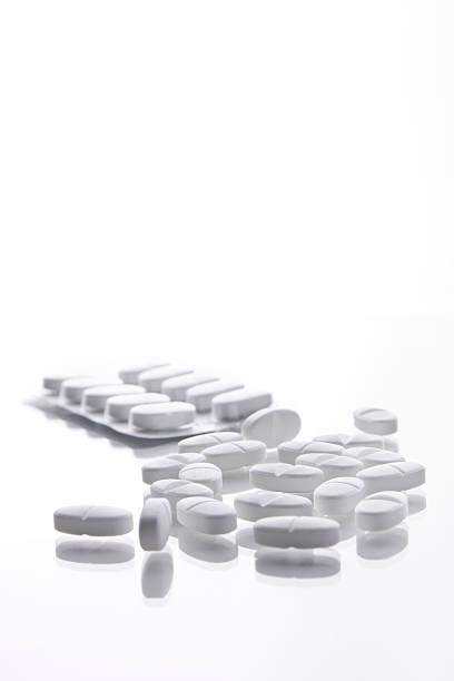 Blanco comprimidos - foto de stock