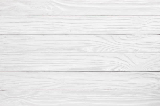 white pine wood plank texture and background stock photo