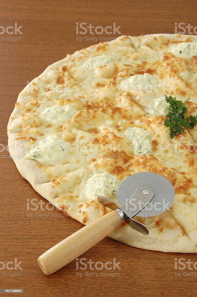 White Pizza stock photo