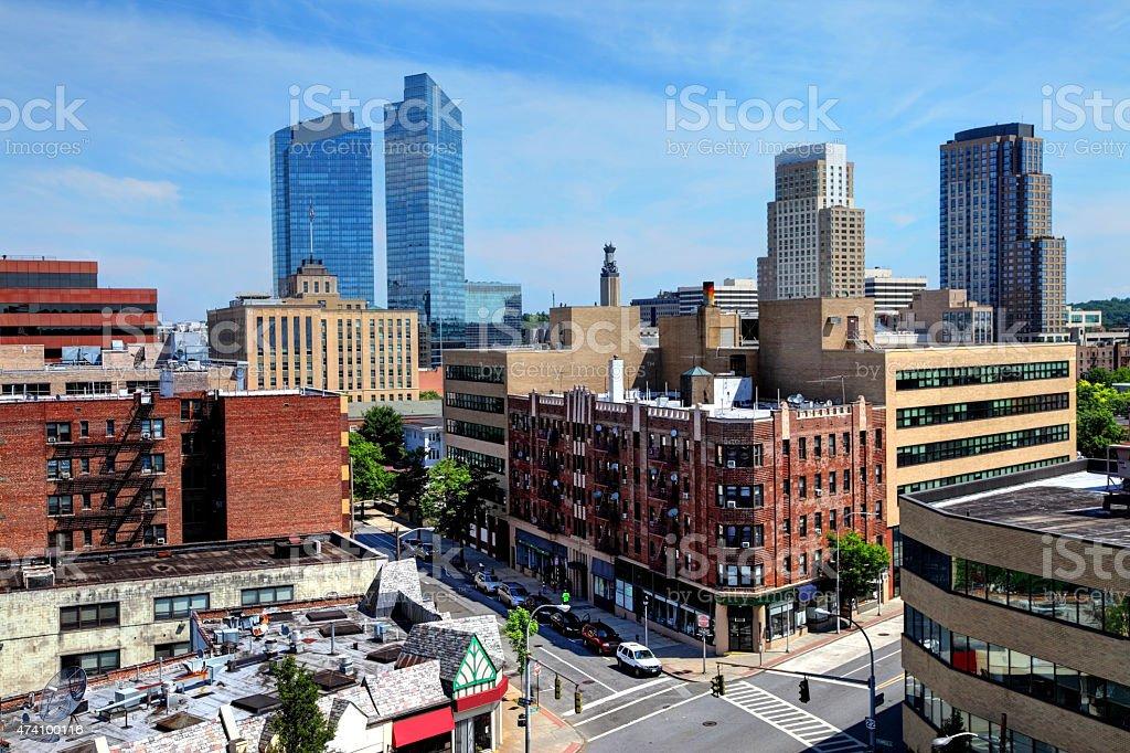 White Plains New York stock photo