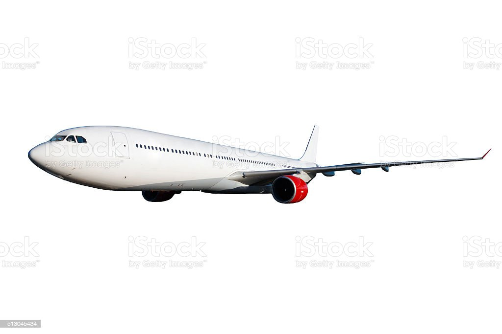 White plane stock photo