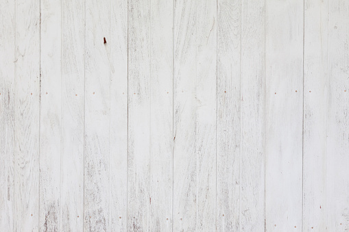 White plank wood wall background