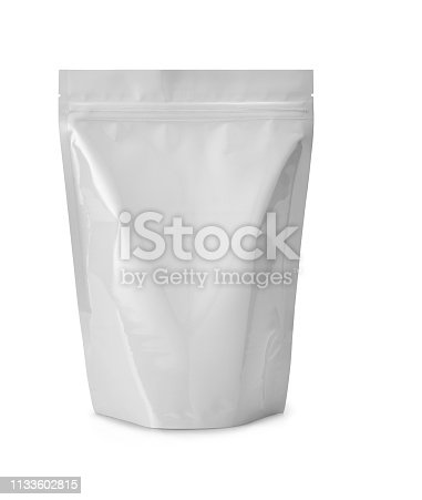 white plasic bag isolated on white with clipping path