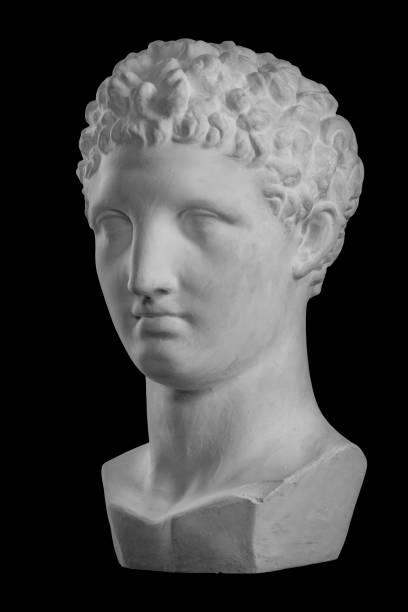 Blanc de plâtre buste sculpture des hommes Hermes - Photo