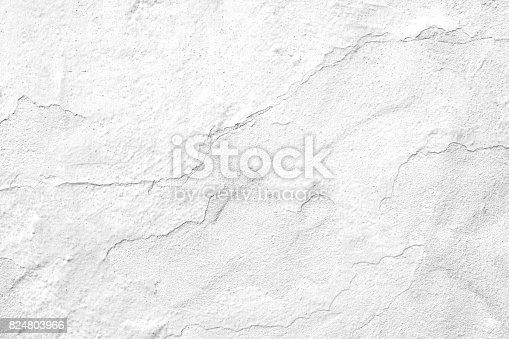 Close up on cement plaster wall surface. Black and white and grunge style image.