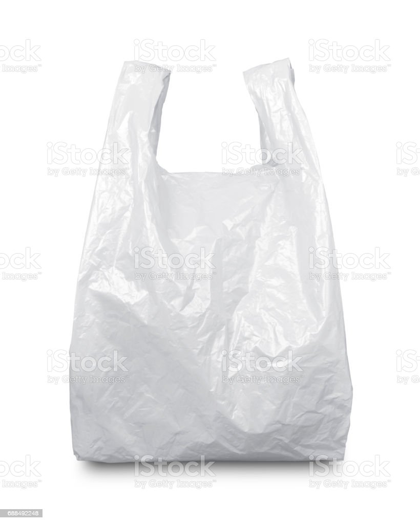 White plastic bag - foto de stock