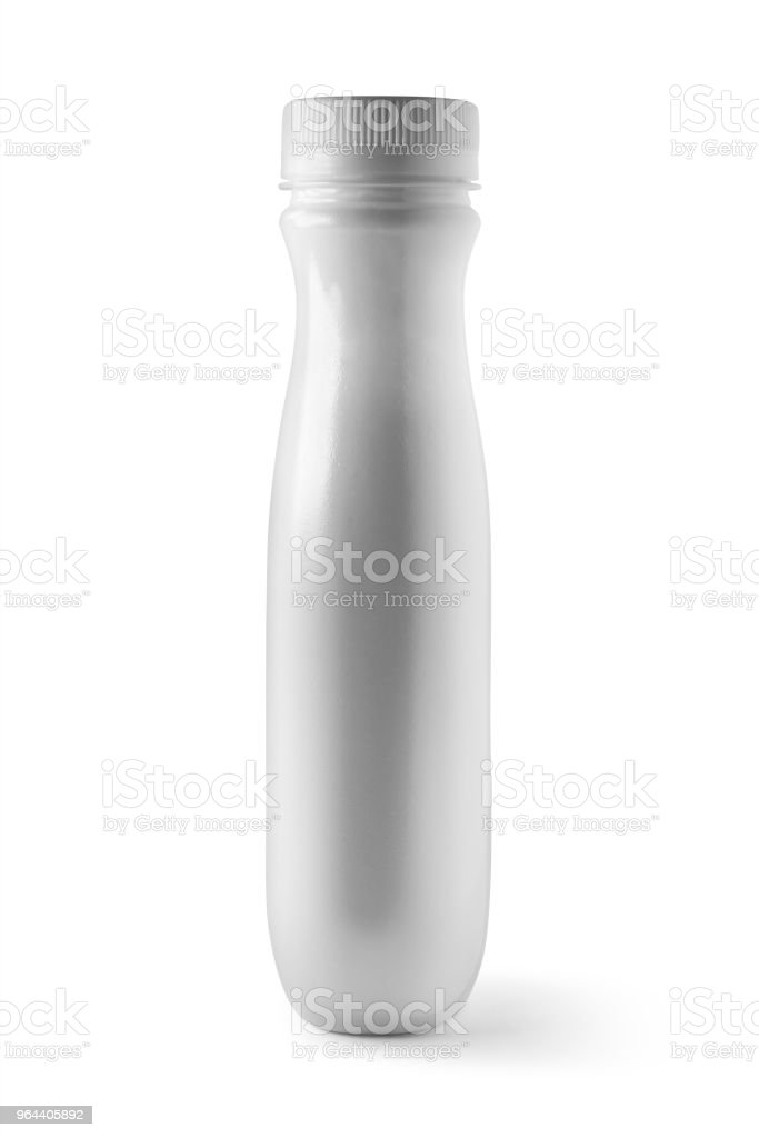 witte plastic fles - Royalty-free Blik - Container Stockfoto