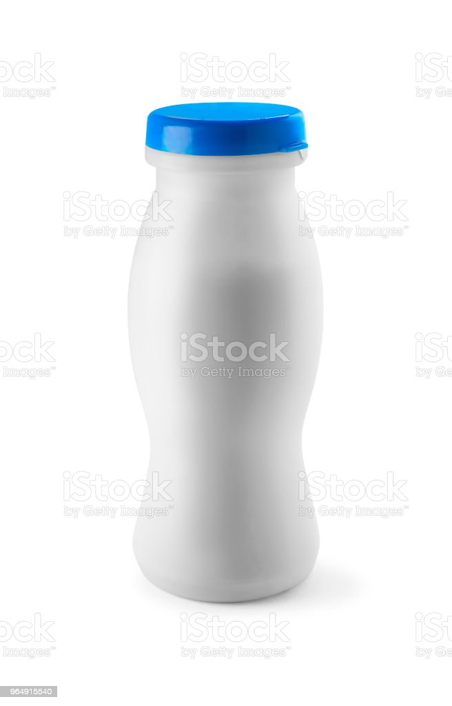 白色塑膠瓶 - 免版稅乳酪圖庫照片