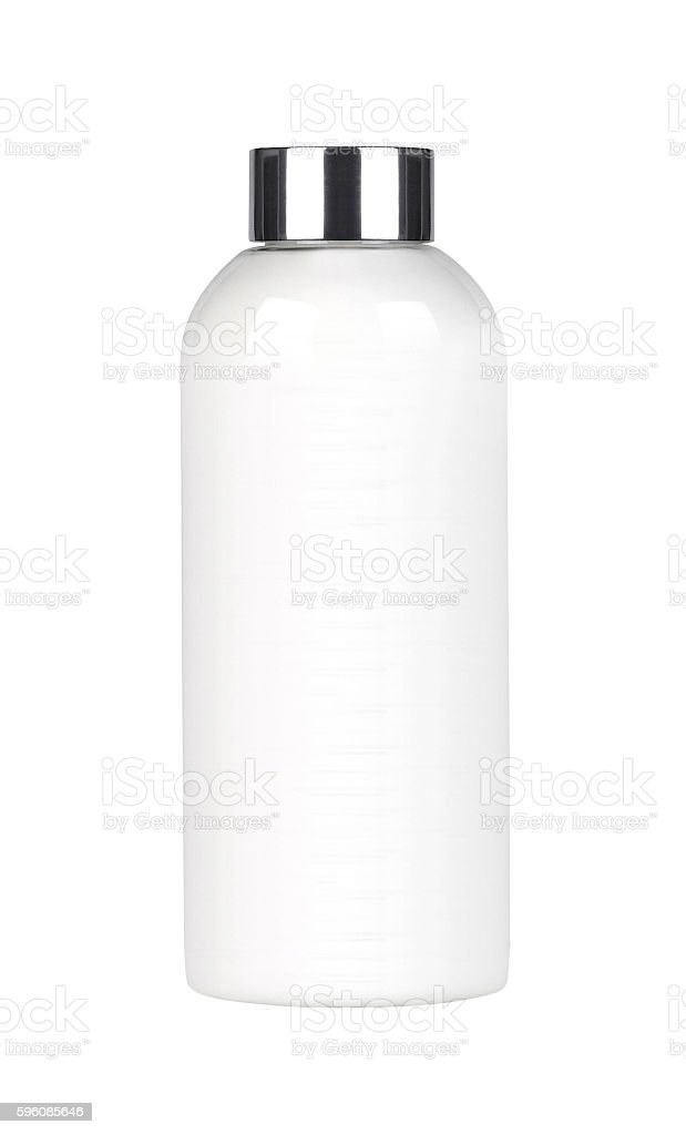 White plastic cosmetic bottle royalty-free stock photo