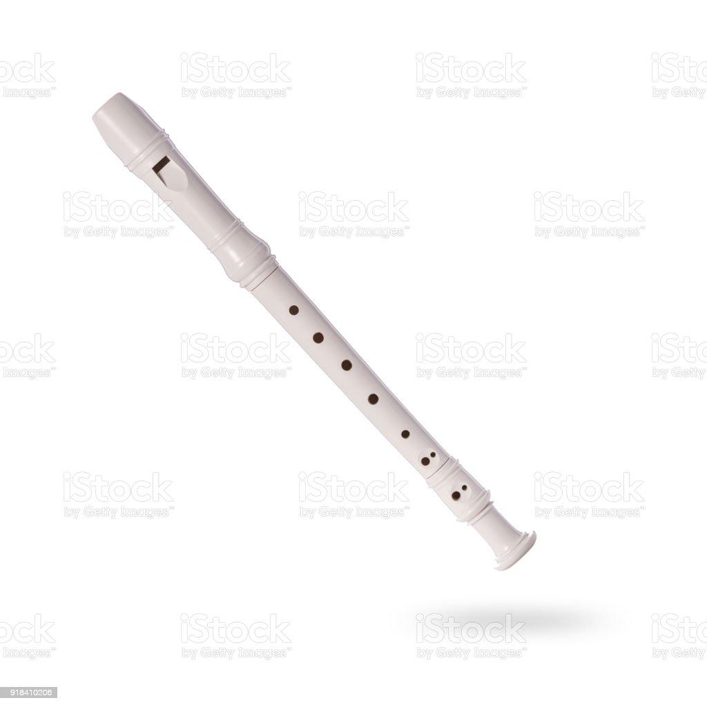 Blockflöte 30 cm weiß Kunststoff Blasinstrumente