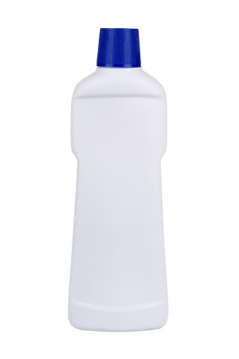 istock White plastic liquid detergent bottle isolated on white. With clipping path 1171168596