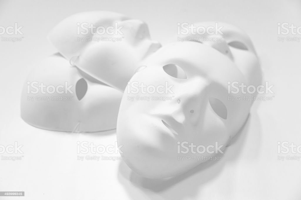 White Plastic Masks stock photo