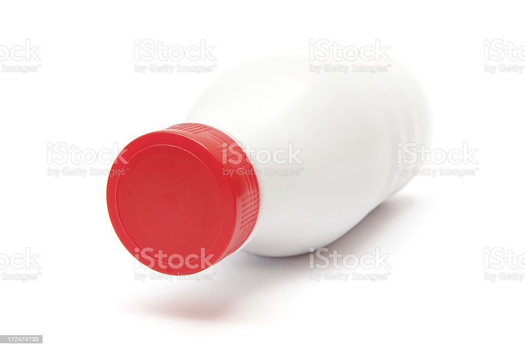 White Plastic Milk Bottle royalty-free stock photo