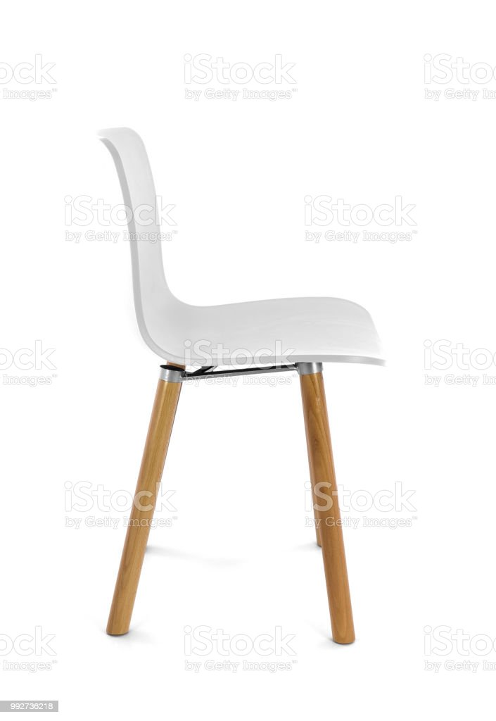 Fine White Plastic Modern Chair With Wood Legs On White Ibusinesslaw Wood Chair Design Ideas Ibusinesslaworg