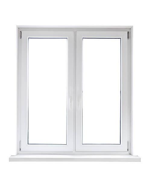 White plastic window stock photo