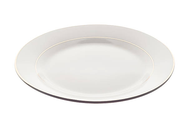 White plate isolated stock photo