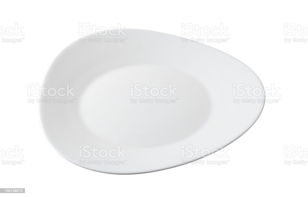 White plate stock photo