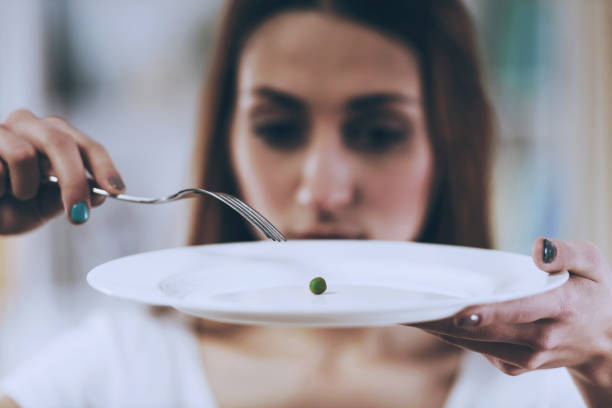 White Plate with Pea Closeup. stock photo
