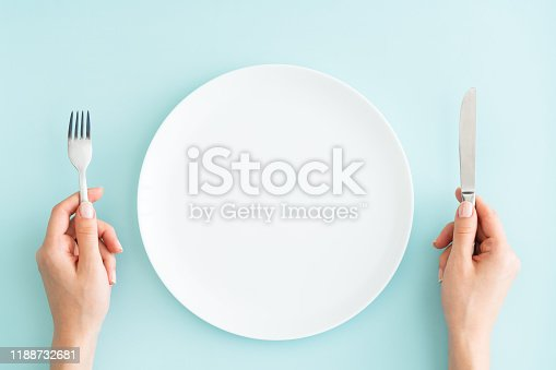 Plate, Fork, Food, Hand, Hungry