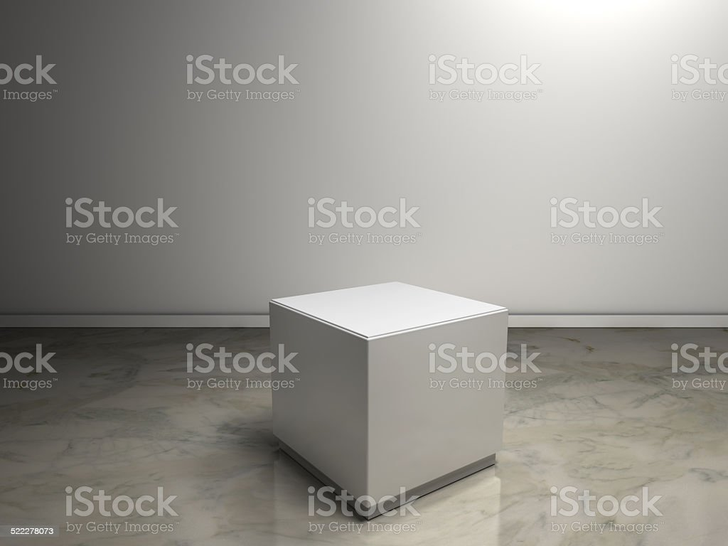 white plinth to place product stock photo