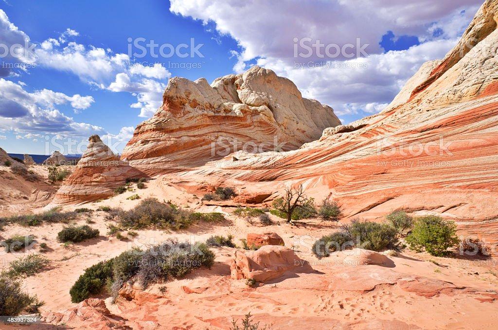 White Pocket on the Paria Plateau in Arizona, USA stock photo