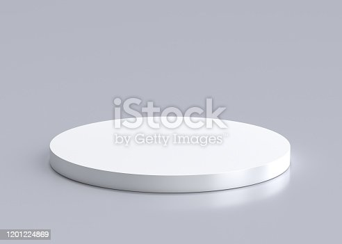white, podium, 3d, rendering, isolated